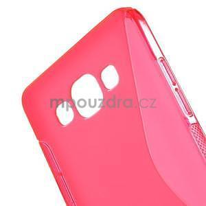 Gélové s-line puzdro na Samsung Galaxy A3 - ružová - 4