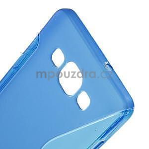 Gélové s-line puzdro pre Samsung Galaxy A3    - modrá - 4