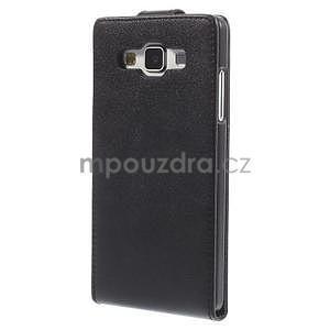 Kožené flipové puzdro pre Samsung Galaxy A5 - čierné - 4