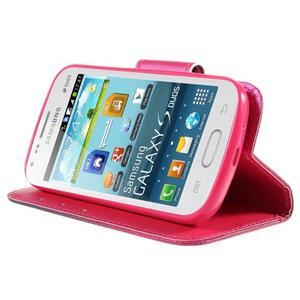 Peňaženkové puzdro pre Samsung Galaxy S Duos / Trend Plus -  srdce - 4