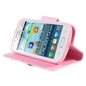 Peňaženkové puzdro pre Samsung Galaxy S Duos / Trend Plus -  sova - 4