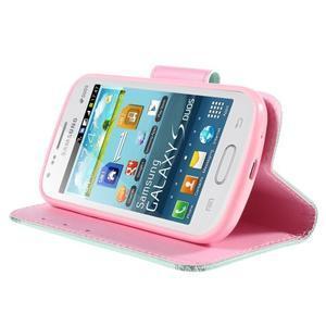 Peňaženkové puzdro pre Samsung Galaxy S Duos / Trend Plus - vtáčik v klietke - 4