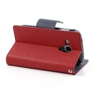 Diary puzdro pre mobil Samsung Galaxy S Duos / Trend Plus -  červené - 4
