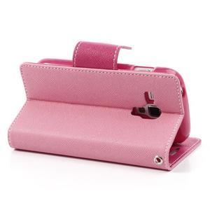 Diary puzdro na mobil Samsung Galaxy S Duos / Trend Plus - růžové - 4