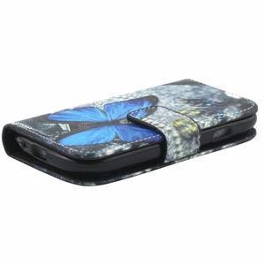 Peňaženkové púzdro na Samsung Galaxy S3 mini - modrý motýľ - 4
