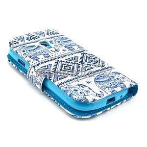 Peňaženkové púzdro na Samsung Galaxy S3 mini - slony - 4