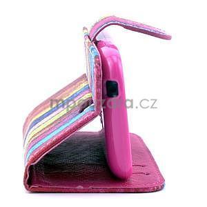 Peňaženkové puzdro na Samsung Galaxy S3 mini - farby dreva - 4