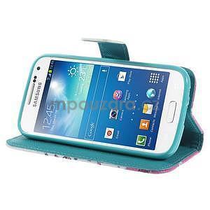 Peňaženkové puzdro pre Samsung Galaxy S4 mini - kvetúca vetvička - 4