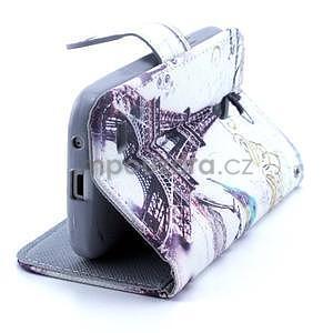 Eiffel peňaženkové puzdro na mobil Samsung Galaxy S4 mini - 4