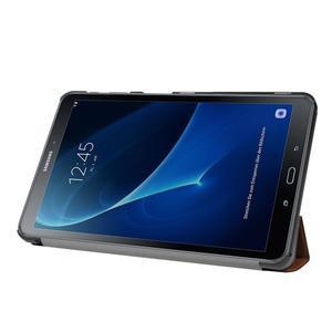 Trifold polohovatelné puzdro na Samsung Galaxy Tab A 10.1 (2016) - hnědé - 4