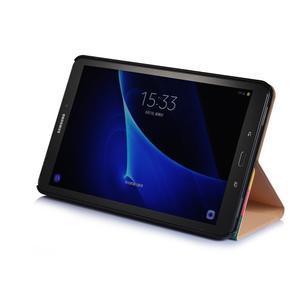 Picture polohovatelné puzdro na Samsung Galaxy Tab A 10.1 (2016) - čtverečky - 4