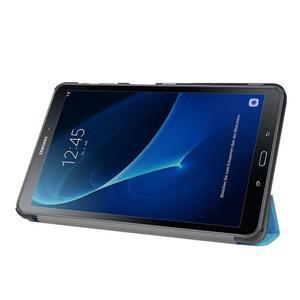 Trifold polohovatelné puzdro pre Samsung Galaxy Tab A 10.1 (2016) - svetlomodré - 4
