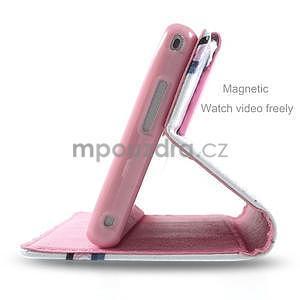 Peňaženkové puzdro pre mobil Sony Xperia M2 - kvety - 4