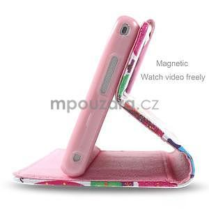 Peňaženkové puzdro na mobil Sony Xperia M2 - kvetinová koláž - 4