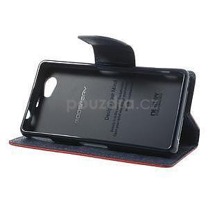 Fancy peňaženkové puzdro na Sony Xperia Z1 Compact - červené - 4