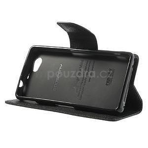 Fancy peňaženkové puzdro na Sony Xperia Z1 Compact - čierne - 4