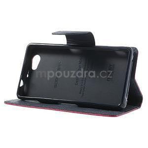 Fancy peňaženkové puzdro pre Sony Xperia Z1 Compact - rose - 4