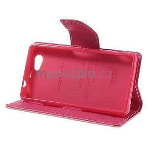 Fancy peňaženkové puzdro na Sony Xperia Z1 Compact - ružové - 4