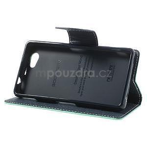 Fancy peňaženkové puzdro pre Sony Xperia Z1 Compact - azúrové - 4