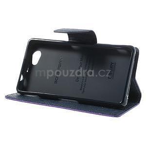 Fancy peňaženkové puzdro na Sony Xperia Z1 Compact - fialové - 4