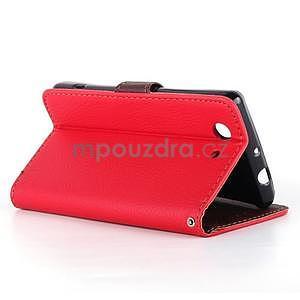 Leaf peněženkové pouzdro na Sony Xperia Z3 Compact - červené - 4