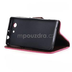 Leaf peněženkové pouzdro na Sony Xperia Z3 Compact - rose - 4