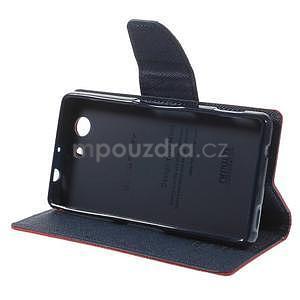 Diary peněženkové pouzdro na mobil Sony Xperia Z3 Compact - červené - 4