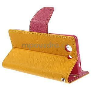 Diary peněženkové pouzdro na mobil Sony Xperia Z3 Compact - žluté - 4
