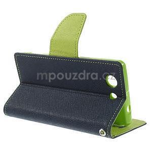 Diary peněženkové pouzdro na mobil Sony Xperia Z3 Compact - tmavěmodré - 4