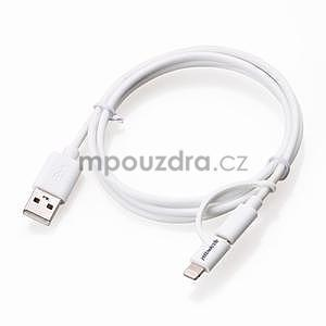 MFi prepojovací kabel 8 pin pre zařízení Apple a micro USB 2v1 - 1 metr - biely - 4