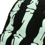 Skeleton rukavice pre dotykové telefony - čierné/zelené - 4/5