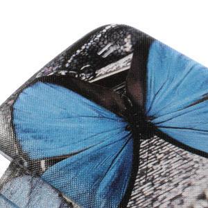 Flipové puzdro na Samsung Galaxy S4 mini i9190- modrý motýl - 4