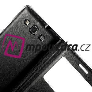 Luxusní pěněženkové puzdro na Samsung Galaxy S3 i9300 - čierné - 4