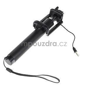GX automatická selfie tyč so spínačom - čierná - 4
