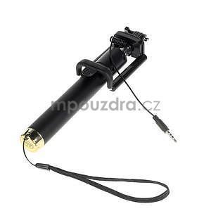GX automatická selfie tyč se spínačem - zlatá - 4