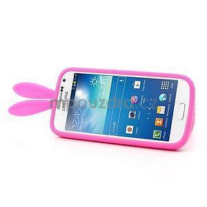 Silikonový obal na Samsung Galaxy S4 mini - rose králík - 4