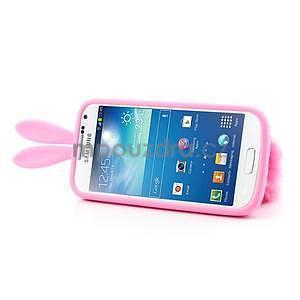 Silikonový obal na Samsung Galaxy S4 mini - růžový králík - 4