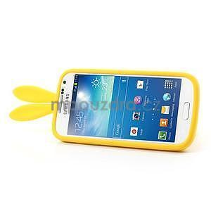 Silikonový obal na Samsung Galaxy S4 mini - žltý králík - 4