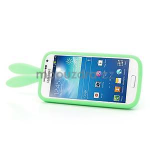 Silikonový obal na Samsung Galaxy S4 mini - zelený králík - 4