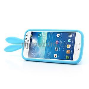 Silikonový obal na Samsung Galaxy S4 mini - modrý králík - 4