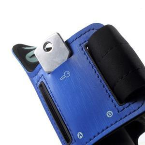 Fittsport pouzdro na ruku pro mobil do rozměrů 143.4 x 70,5 x 6,8 mm - modré - 4