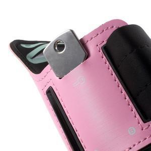 Fittsport pouzdro na ruku pro mobil do rozměrů 143.4 x 70,5 x 6,8 mm - růžové - 4
