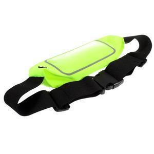 Športové kapsička pres pas na mobily do rozmerov 149 x 75 mm - zelené - 4