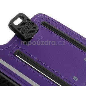 Soft puzdro na mobil vhodné pre telefony do 160 x 85 mm -  fialové - 4