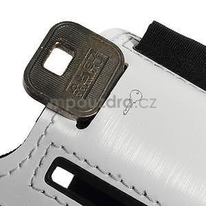 Soft puzdro na mobil vhodné pre telefóny do 160 x 85 mm - biele - 4