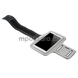 Bežecké puzdro na ruku pre mobil do veľkosti 152 x 80 mm - šedé - 4