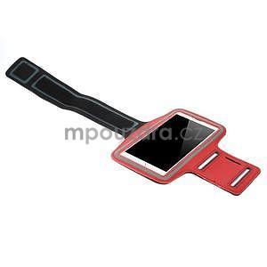 Bežecké puzdro na ruku pre mobil do veľkosti 152 x 80 mm - červené - 4
