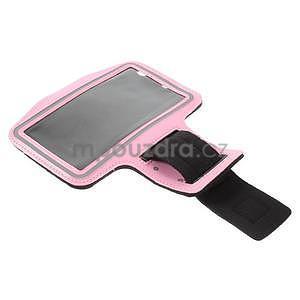 Bežecké puzdro na ruku pre mobil do veľkosti 152 x 80 mm - ružové - 4