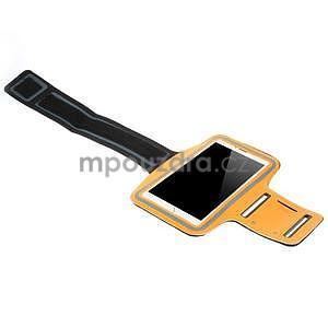 Bežecké puzdro na ruku pre mobil do veľkosti 152 x 80 mm -  oranžové - 4