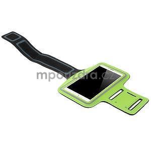 Bežecké puzdro na ruku pre mobil do veľkosti 152 x 80 mm - zelené - 4
